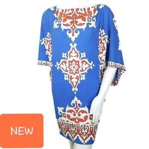 Hale Bob Dress XS  Mini Kimono Sleeve 2MLZ6976